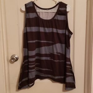 Tops - Brown and grey tank top